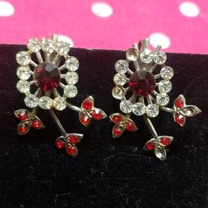 Vintage earrings with Faux crystals